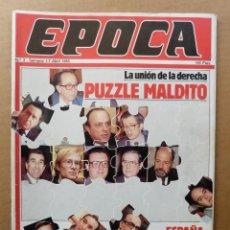 Coleccionismo de Revista Época: EPOCA 3 CASO PIANELLI DERECHAS 1931-36 ELENA FLORES PINTOR MACARRON EL IRA LA CAMORRA PORCHE 944 T. Lote 139097930