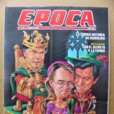 Coleccionismo de Revista Época: EPOCA Nº 178 EL CUENTO DE LA POLITICA LA MODELO IMAN RAFAEL ESCOBEDO HOLLYWOOD EL GORDO Y EL FLACO. Lote 143862010