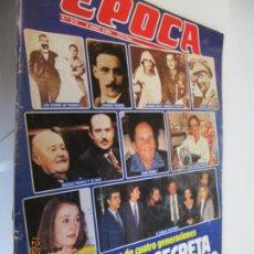 Coleccionismo de Revista Época: REVISTA EPOCA Nº 212 - 3 ABRIL 1989 - HISTORIA SECRETA DE LA FAMILIA FRANCO. Lote 145126390