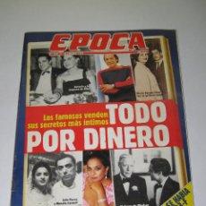 Coleccionismo de Revista Época: ÉPOCA - NÚM. 312 - TODO POR DINERO - 25.02.1991 - 146 PÁG.. Lote 165489050