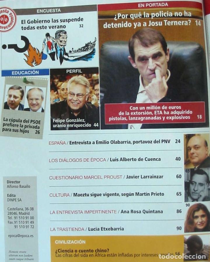 Coleccionismo de Revista Época: REVISTA ÉPOCA - Nº 1115 SEPTIEMBRE 2006 - VER INDICE Y DESCRIPCIÓN - Foto 2 - 172383837