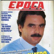 Coleccionismo de Revista Época: EPOCA Nº 393 - AZNAR - CARLOS SOLCHAGA - ETA CERCO A SUS ABOGADOS - CASA REAL - 7 SEPTIEMBRE 1992. Lote 172457243