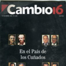 Colecionismo da Revista Época: CAMBIO 16 Nº 1200 -JULIO ANGUITA ENTREV.-BROOKE SHIELDS-RAUL/JORDI CRUIFF/J. GUERRERO-NOV. 1994. Lote 172469289