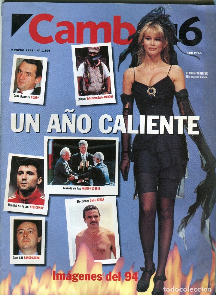 CAMBIO 16 Nº 1206 - CLAUDIA SCIFFER - NAOMI CAMBELL - 94 UN AÑO CALIENTE EN IMAGENES - ENERO 1995 (Coleccionismo - Revistas y Periódicos Modernos (a partir de 1.940) - Revista Época)