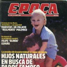 Coleccionismo de Revista Época: EPOCA Nº 174 -TITA CERVERA/ISABEL PREYSLER - FUTBOL VENDETA CONTRA EL MADRID - MARIVENT - JULIO 1988. Lote 173195983