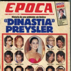 Coleccionismo de Revista Época: EPOCA Nº 192 ISABEL PREYSLER AMBICION SIN LIMITES -EMILIANO REVILLA ETA - RUBI CANTANTE - NOVI. 1988. Lote 217969471