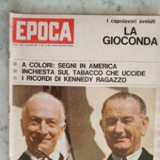 Coleccionismo de Revista Época: REVISTA EPOCA EN ITALIANO - AÑO 1964 - LA GIOCONDA -. Lote 179095527
