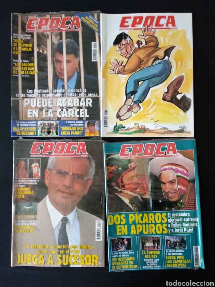 LOTE 4 REVISTAS ÉPOCA DE 1995 (Coleccionismo - Revistas y Periódicos Modernos (a partir de 1.940) - Revista Época)