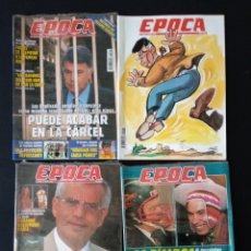 Coleccionismo de Revista Época: LOTE 4 REVISTAS ÉPOCA DE 1995. Lote 179949550