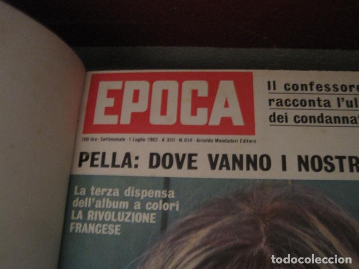 Coleccionismo de Revista Época: Epoca (revista italiana 27 números año 1962 en 2 volúmenes) - Foto 7 - 180894688