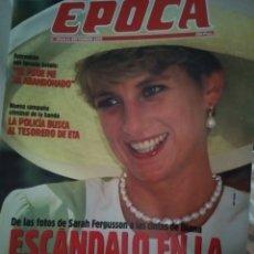 Coleccionismo de Revista Época: REVISTA ÉPOCA. ESCÁNDALO LADY DI. 14 SEPTIEMBRE DE 1992. Lote 186242522
