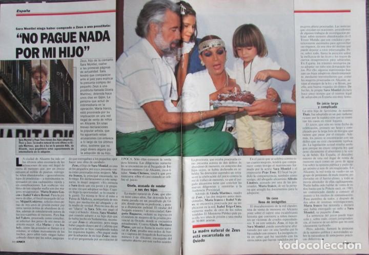 RECORTE REVISTA ÉPOCA Nº 193 1988 SARA MONTIEL (Coleccionismo - Revistas y Periódicos Modernos (a partir de 1.940) - Revista Época)