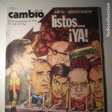 Coleccionismo de Revista Época: CAMBIO 16 Nº 250 20/09/76. Lote 199396287