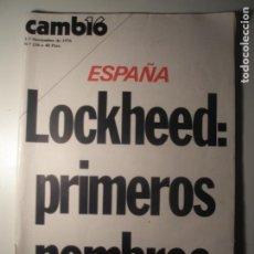 Coleccionismo de Revista Época: CAMBIO 16 Nº 256 01/11/76. Lote 199396323