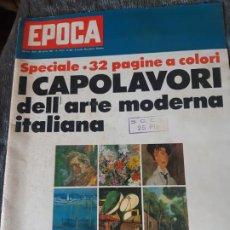 Coleccionismo de Revista Época: REVISTA EPOCA, EL ARTE EN ITALIA, EN ITALIANO. Lote 201519387