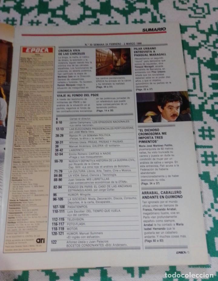 Coleccionismo de Revista Época: Revista Época núm. 50. Año 1986. Felipe González - Guerra Civil - Pasqual Maragall - Fernando Arraba - Foto 13 - 201725045