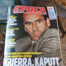 Coleccionismo de Revista Época: REVISTA EPOCA N° 277 (25 JUNIO 1990). Lote 219193330