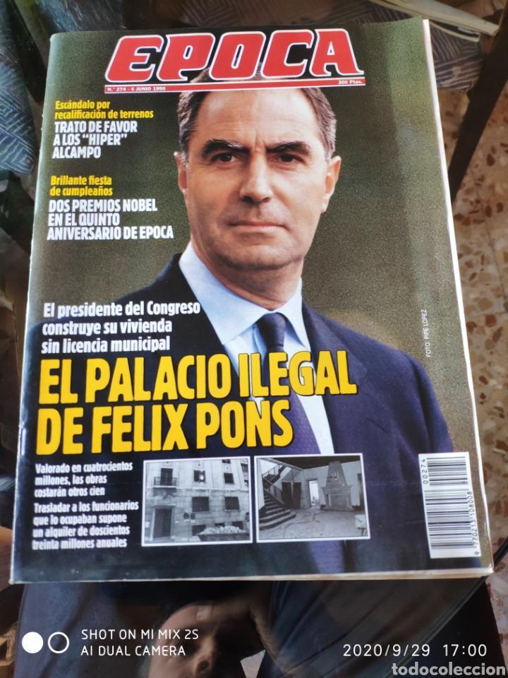 REVISTA EPOCA N° 274 (4 JUNIO 1990) (Coleccionismo - Revistas y Periódicos Modernos (a partir de 1.940) - Revista Época)
