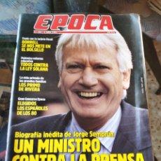 Coleccionismo de Revista Época: REVISTA EPOCA N° 265 (2 ABRIL 1990). Lote 219195825