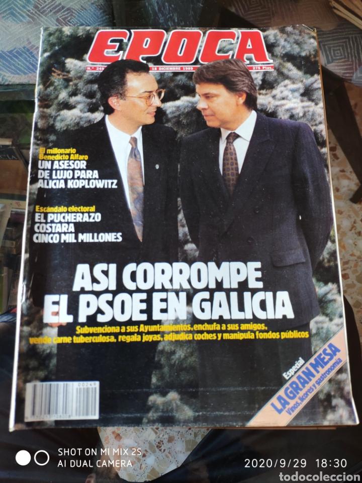 REVISTA EPOCA N° 249 (18 DICIEMBRE 1989) (Coleccionismo - Revistas y Periódicos Modernos (a partir de 1.940) - Revista Época)