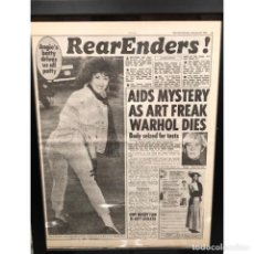 Coleccionismo de Revista Época: ANDY WARHOL - GIORNALE ORIGINALE CON NOTIZIA DELLA SUA MORTE - ANNO 1987 - RARO. Lote 219387643