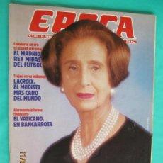 Coleccionismo de Revista Época: EPOCA REVISTA Nº 153 -CARMEN POLO DE FRANCO. REAL MADRID- FEBRERO DE 1988. Lote 226918496