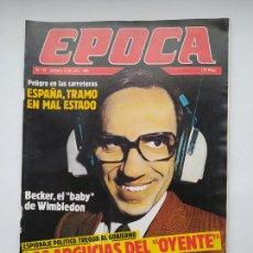 Coleccionismo de Revista Época: REVISTA EPOCA Nº 19. DEL 22 AL 28 DE JULIO DE 1985. LAS ARGUCIAS DEL OYENTE. TDKC100. Lote 230294880