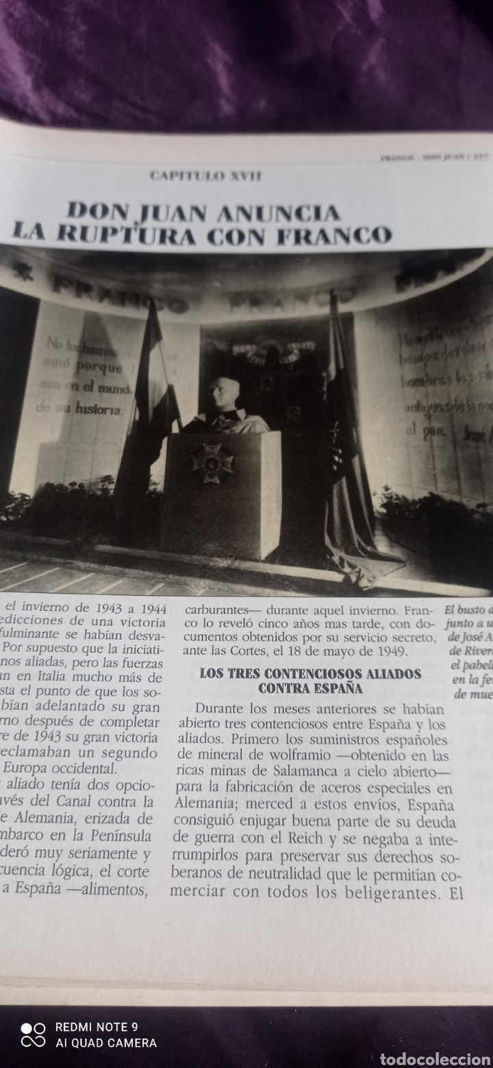 Coleccionismo de Revista Época: Fascículos Franco Don Juan los Reyes sin corona. Ricardo de la Cierva . Epoca - Foto 7 - 237278720