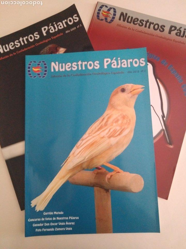 NUESTROS PÁJAROS. CONFEDERACIÓN ORNITOLÓGICA ESPAÑOLA. LOTE NÚMEROS 1, 3 Y 7. (Coleccionismo - Revistas y Periódicos Modernos (a partir de 1.940) - Revista Época)