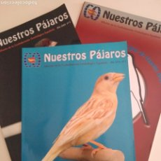 Coleccionismo de Revista Época: NUESTROS PÁJAROS. CONFEDERACIÓN ORNITOLÓGICA ESPAÑOLA. LOTE NÚMEROS 1, 3 Y 7.. Lote 251831810