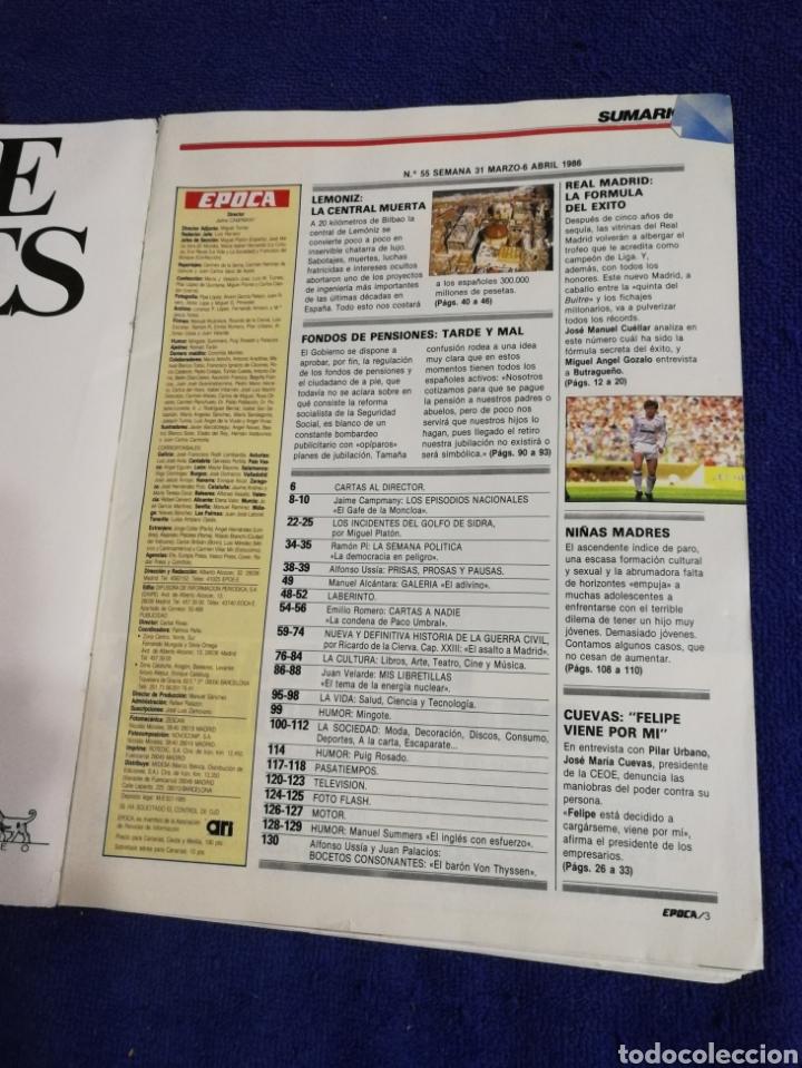 Coleccionismo de Revista Época: Revista epoca. Numero 56. De 1986. - Foto 4 - 257575015