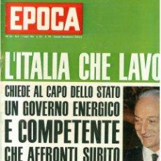 Coleccionismo de Revista Época: EPOCA RIVISTA VINTAGE 1964 ANNO XV N.719 - MONDADORI ED - ED. MONDADORI. Lote 266743393