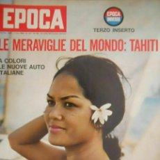 Coleccionismo de Revista Época: EPOCA RIVISTA VINTAGE 1964 ANNO XV N.736 - MONDADORI ED - ED. MONDADORI. Lote 266743408