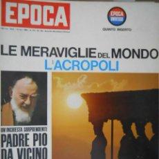 Coleccionismo de Revista Época: EPOCA RIVISTA VINTAGE 1964 ANNO XV N.738 - MONDADORI ED - ED. MONDADORI. Lote 266743413