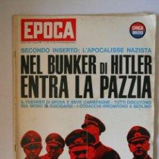 Coleccionismo de Revista Época: EPOCA RIVISTA VINTAGE 1965 ANNO XVI N.762 - MONDADORI ED - ED. MONDADORI. Lote 266743428