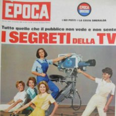 Coleccionismo de Revista Época: EPOCA RIVISTA VINTAGE 1965 ANNO XVI N.793 - MONDADORI ED - ED. MONDADORI. Lote 266743443