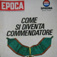 Coleccionismo de Revista Época: EPOCA RIVISTA VINTAGE 1966 - ANNO XVII N.822 - MONDADORI ED - ED. MONDADORI. Lote 266743458