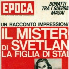 Coleccionismo de Revista Época: EPOCA RIVISTA VINTAGE 1967 ANNO XVIII N.860 - MONDADORI ED - ED. MONDADORI. Lote 266743473