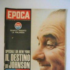 Coleccionismo de Revista Época: EPOCA RIVISTA VINTAGE 1964 ANNO XV N.737 - MONDADORI ED - ED. MONDADORI. Lote 266743548