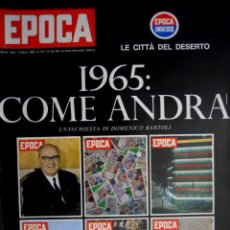 Coleccionismo de Revista Época: EPOCA RIVISTA VINTAGE 1965 ANNO XVI N.745-746 - MONDADORI ED - ED. MONDADORI. Lote 266743558