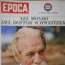 Coleccionismo de Revista Época: EPOCA RIVISTA VINTAGE 1965 ANNO XVI N.755 - MONDADORI ED - ED. MONDADORI. Lote 266743583