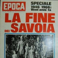 Coleccionismo de Revista Época: EPOCA RIVISTA VINTAGE 1966 - ANNO XVII N.818 - MONDADORI ED - ED. MONDADORI. Lote 266743593