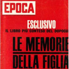Coleccionismo de Revista Época: EPOCA RIVISTA VINTAGE 1967 ANNO XVIII N.886 - MONDADORI ED - MONDADORI ED.. Lote 267803699