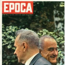 Coleccionismo de Revista Época: EPOCA RIVISTA VINTAGE 1967 ANNO XVIII N.875 - MONDADORI ED - MONDADORI ED.. Lote 267803834