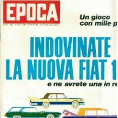 Coleccionismo de Revista Época: EPOCA RIVISTA VINTAGE 1969 ANNO XX N.959 - MONDADORI ED - MONDADORI ED.. Lote 267803909