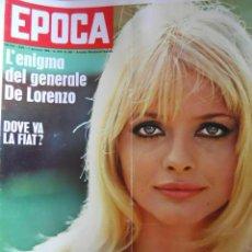 Coleccionismo de Revista Época: EPOCA RIVISTA VINTAGE 1968 ANNO XIX N.902 - MONDADORI ED - MONDADORI ED.. Lote 267803929