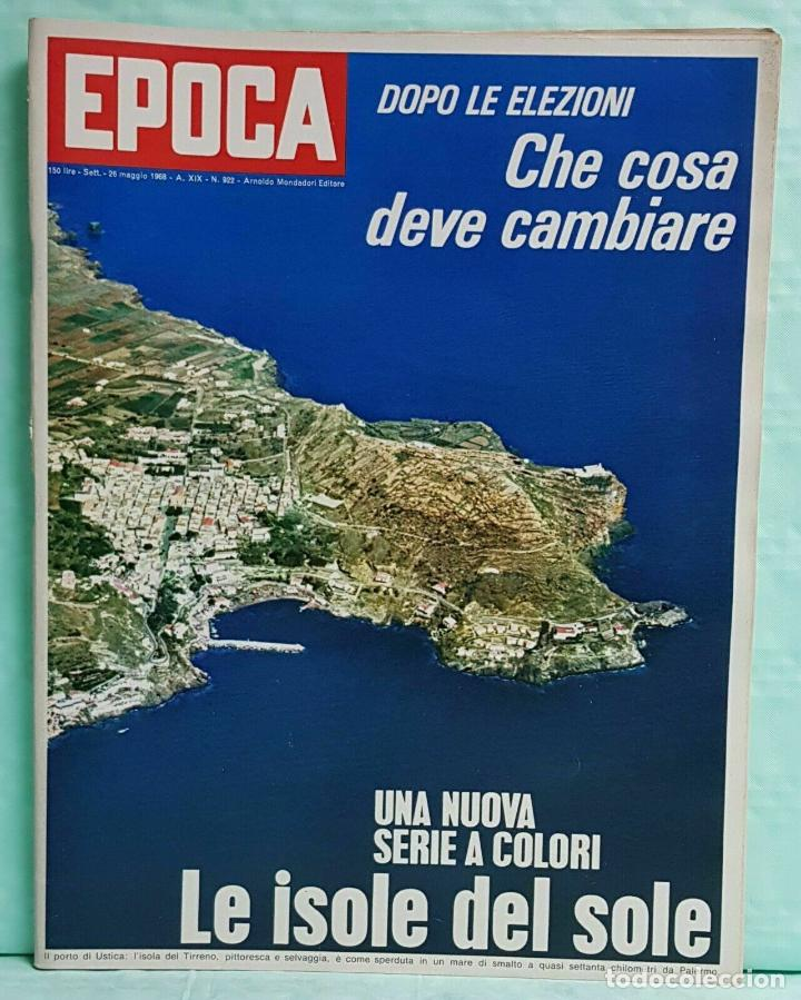 EPOCA RIVISTA VINTAGE 1968 ANNO XIX N.922 - MONDADORI ED - MONDADORI ED. (Coleccionismo - Revistas y Periódicos Modernos (a partir de 1.940) - Revista Época)