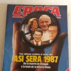 Coleccionismo de Revista Época: REVISTA ÉPOCA 5 ENERO 1987. Lote 280328718