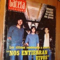 Coleccionismo de Revista Gaceta Ilustrada: REVISTA - GACETA ILUSTRADA- Nº 1125 30 ABRIL 1978 PORTADA CONDENADOS A MUERTE, . Lote 3557704