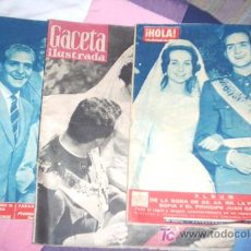Coleccionismo de Revista Gaceta Ilustrada: BODA JUAN CARLOS Y SOFIA - HOLA - GACETA ILUSTRADA- REYES ESPAÑA. Lote 25908097